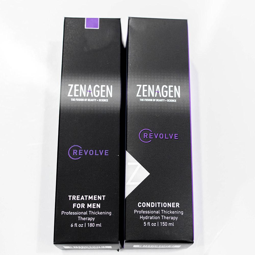 Zenagen revolve treatment for men and conditioner