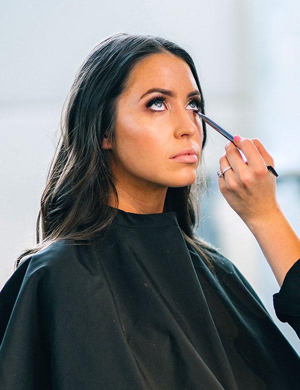 Client received makeup services