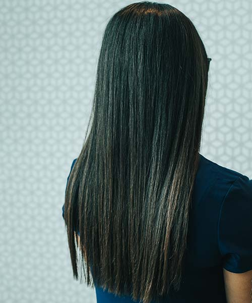 Sleek straight blowout